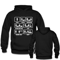 Wholesale Family Hoodies - Bad Good Awesome Motorcycle Funny Men Women Black Hoodies Cute Family Pullovers Hooded Hoodies Unisex Pullover XS-3XL Tops