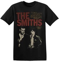 do vintage do grupo de rock t-shirt venda por atacado-The Smiths Camiseta UK Rock Band New Graphic Imprimir Unisex Homens Tee 1-A-022 Nova Moda Masculina de Manga Curta T-Shirt Dos Homens