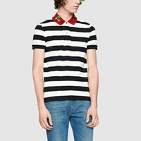 Wholesale Asian Fashion Designers - 2018 Brand Designer Polo T-shirts Sunmmer New Arrival Mens Turndown Polo Shirt High Quality Short Sleeve Tops Asian Size M-3XL