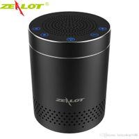 ses kontrolü toptan satış-ZEALOT S15 Dokunmatik Kontrol Kablosuz Bluetooth Hoparlörler Kablosuz Taşınabilir Alüminyum Alaşım HiFi Stereo 3D Surround Ses Açık Subwoofer