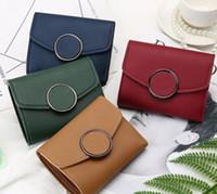 ingrosso nuove borse coreane-nuova semplice versione corta della versione coreana della borsetta da donna di un mini portafoglio con taschino portamonete.