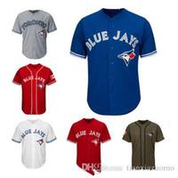 blanco rojo blanco azul jerseys al por mayor-Hombres Mujeres Jóvenes Jays Azules Jerséis Jersey de béisbol de Jersey en blanco No Nombre No Número Blanco Gris Gris Azul Rojo Día de Canadá Saludo al servicio