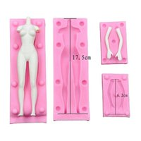 Wholesale silicone men dolls for women - Clay flip doll body mold DIY clay polymer clay silicone human body mold for men and women