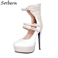 plataforma de zapatos de tacón italiano al por mayor-Venta al por mayor multi color zapatos italianos mujeres 2018 plataforma de tacón alto bomba zapatos de mujer correas del tobillo zapatos de mujer tacón alto tamaño 11