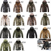 Wholesale softshell hunting jackets for sale - 14colors TAD Stealth Sharkskin Softshell Jackets Military Waterproof wrap Camouflage Coat Men Hike Hunting Tactical Hoodie jackets GGA1030