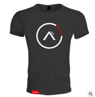 Wholesale long workout tops - Printed Mens T-shirt Muscle Gym Fitness Muscle Training Breathable Clothing Bodybuilding Tops Workout T Shirts Plus Size For Strong Mens