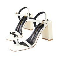 rahat yüksek topuklu düğün ayakkabıları toptan satış-Rahat Tıknaz Sandalet Elbise Ayakkabı Kadın Topuklu Pompalar Burnu açık Yüksek Topuklu Festivali Parti Düğün Ayakkabı Resmi Pompalar Sandalet GWS480