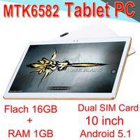 ingrosso compresse-Tablet PC Core 10 pollici MTK6582 IPS capacitivo MTPI IPS Dual SIM 3G Tablet Phone Android 5.1 1GB 16GB EXPB-2 Vendita al dettaglio