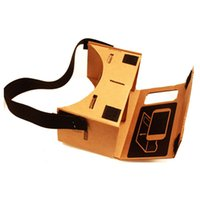 google cardboard iphone оптовых-For 4-6 Inches Screen Google iPhone Nexus Samsung Mobile Phones Cardboard Valencia Quality VR 3D Virtual Reality Glasses