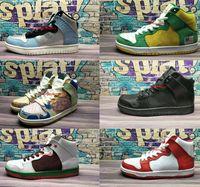Wholesale hi low tops - 2018 New Arrival Dunks Mid Pro HI QS Hi P Premium High Top Running Shoes Men Women Sport Sneakers