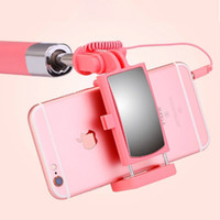 Wholesale iphone monopods - Flexible Mini Camera Selfie Stick Stainless Steel Flexibility Wire Control Selfie Monopods For iPhone Android Universal Monopod For Cameras