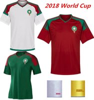 75ca5f20e7c9f venta de camisetas oficiales al por mayor-Marruecos 2018 World Cup Kit  camisetas de fútbol