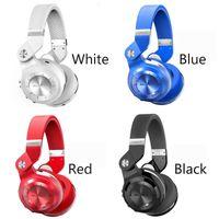 auricular bluedio t2 al por mayor-2019 NUEVO Bluedio Headest T2 + Turbine 2 Plus Auricular Bluetooth plegable Bluetooth 4.1 Soporte para auriculares Tarjeta SD y radio FM para llamadas Música