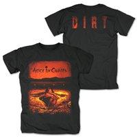 cadeias de alice venda por atacado-New Alice In Chains banda de rock MENS T-SHIRT Grande Desconto Homens de Algodão Tee Nova Manga Curta Rodada Collar Ativado Por Som Levou Camiseta