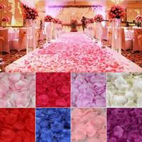 eventos de rosa casamento venda por atacado-2000 pçs / lote Seda Artificial Pétalas De Rosa Petalas Casamento Pétala Flores Eventos Do Casamento Acessórios Decoração De Casamento Flores Coloridas