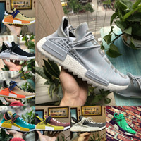 Wholesale r1 race - New Original 2018 pharrell williams nmd human race men women running shoes black white grey nmds primeknit PK runner XR1 R1 R2 Sneakers