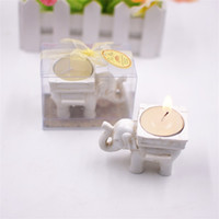 Wholesale gifts candle holder online - Retro Lucky Elephant Candles Holder Creative Tealight Candlestick Bridal Shower Wedding Party Favors Gift Banquet Table Decor yc YY
