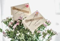cartões de nota do cumprimento venda por atacado-Cartões de nota de cartão de flor rosa artificial Cartão de cartões de nota de flor rosa Simulação Blessing Simulação com envelopes
