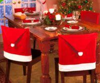 roter fleck gesetzt großhandel-Hot spot rot vlies Weihnachtsstuhl set Weihnachten tischdekoration Weihnachten hut weichen touch