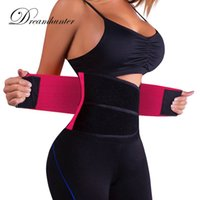 Wholesale waist supports resale online - Adjustable Elastic Waist Support Belt Lumbar Back Support Exercise Belts Brace Slimming Belt Waist Trainer Tummy Slim Belts