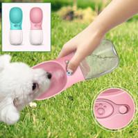 Wholesale Small Plastic Dispenser Bottles - 350ML Pet Dog Cat Water Bottle Drinking Dispenser Outdoor Sports Water Feeder Fedding Bottle Dog Feeders OOA4954