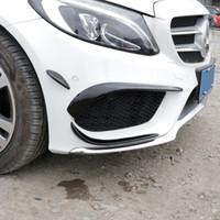 Wholesale fog accessory online - Front Bumper Fog Lamp Grille Slats Spoiler Flap Wing Black Decoration Trim For Mercedes Benz C Class W205 Car Accessories