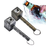 Wholesale hammer wrenches - Beer Bottle Openers Hammer of Thor Shaped Bottle Opener Wine Corkscrew Beverage Wrench Jar Openers for dinner party Bar tools