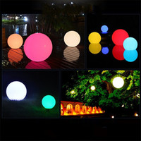 table led pour bar achat en gros de-Coloré Décoloration Solaire Lumière Énergie Float Lampe Boule Led Illuminé Piscine D'eau Fournitures Lumières En Plein Air Bar Table 25fj jj