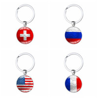 f3cae534da6 2018 FIFA Russia World Cup Luxury Keychain Zinc Alloy Round Key Buckle Football  National Flag Pattern Keyring Portable 1 8xm B