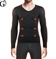 0e2fed4373978 PRAYGER Men body shaping shirt Abdomen control body shaper belly Slimming  warm Underwear long sleeve chest Shapers