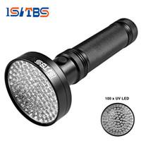 iluminación de inspección al por mayor-18W UV Black Light Flashlight 100 LED La mejor luz UV y Blacklight para la inspección del hotel en el hogar, manchas de orina para mascotas