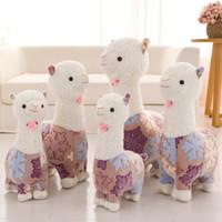 Wholesale girls stuff animals for sale - Group buy Alpaca Plush Doll Llama Alpacasso Stuffed Toys Kids Children Plush Animals Girls Sleep Cushion Pillow Stuffed toys Novelty Items GGA1208
