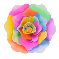 ingrosso puntelli per la danza-Simulazione Fiori a mano Decorazione domestica Grandi dimensioni Fiore di peonia artificiale Fiore Festa di ballo Donne che eseguono Prop Alta qualità 65sy C