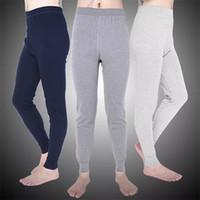 sıkı pantolon toptan satış-Kış Sıcak Erkekler Pamuk Tozluk Sıkı Erkekler Paçalı Don Artı Boyutu Sıcak Iç Çamaşırı Adam Termal Iç Çamaşırı Pijama
