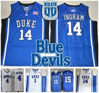 Wholesale purple gold hills - COLLEGE Stitched NCAA DUKE Retro Zion Williamson 12 IRVING ALLEN INGRAM OKAFOR PARKER Laettner Redick HILL SHIRTS Jerseys