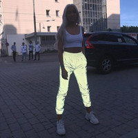 sexy frauen harem hose groihandel-Aktive Herbstkleidung Nachtleuchtende Freizeithosen Sexy Fashion Bling Club Leggings Pluderhosen Damen Jogginghosen Lange Hosen S-XL