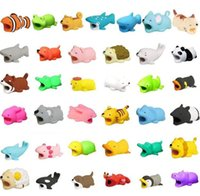 Wholesale protection gifts online - Cute Animal Bite USB Lighting Charger Data Protection Cover Mini Wire Protector Cable Cord Phone Accessories Creative Gifts Designs