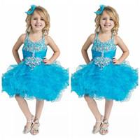 desgaste del desfile del brillo personalizado al por mayor-2019 Custom Toddler Pageant Cupcake Dress Baby Girls Corto Glitz nacional Tutu infantil Ropa formal Vestidos de cumpleaños