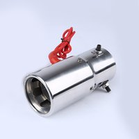 Discount universal mufflers tips - Universal Car Exhaust Pipe Spitfire with LED Red Light Auto Stainless steel Straight Flaming Muffler Tip