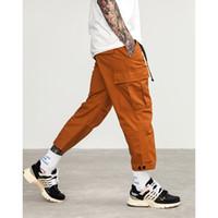 ingrosso uomo casuale di jersey dell'esercito-Pantaloni maschili casual in jersey di taglia più grande Pantaloni militari multi tasche stile militare da uomo verde arancio