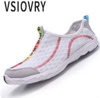 Wholesale mesh fabrics for sewing - VSIOVRY 2018 Summer Men Sandals Breathable Mesh High Quality Fashion Sneakers Unisex Beach Casual Shoes Big Size Sandals For Men