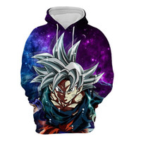 Wholesale goku clothes online - 2018 new fashion Cool sweatshirt Hoodies Men women D print Dragon Ball SUPER SON Goku STAR hot Style Streetwear sleeve clothes