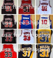 Wholesale yellow worms - NCAA Oklahoma Savages 91 Dennis Rodman Jersey The Worm 10 Dennis Rodman Men 33 Scottie Pippen College Basketball Jerseys Stitched Movie