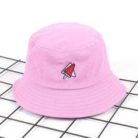d4572dbcd9d New Korea Watermelon Bucket Hat for Men Women Embroidery Unisex Fashion Fishing  Hat Boonie Hat