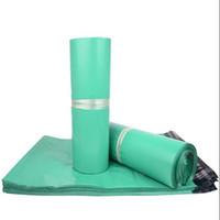 posta poşetleri 17 toptan satış-Yeşil Zarflar Poli Posta Gönderen Posta Plastik Posta Çanta Zarf Yüksekliği kaliteli 17 * 30 cm ücretsiz kargo