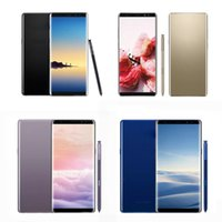 Wholesale android dual sim - Unlocked Note8 6.3inch Note 8 Goophone Quad Core 1280*720 Android 1G Ram 8GB 16GB Rom With Touch ID show 4G LTE Cellphone