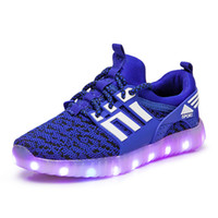 Wholesale girls usb light for sale - Children LED Shoes For Kids Casual colors Luminescence Shoes Colorful Glowing Baby Boys Girls Sneakers USB Charging Light up Shoes C5191
