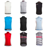 Wholesale Mens Cycle Jersey - cycling jersey 2018 Rapha Cycling Jerseys Bicycle Clothes Breathable Without Sleeves Shirt Mens Cycling Clothing mtb jersey C1515