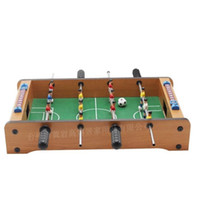 Wholesale Toy Football Tables - Mini Woodiness Indoor Learning Education Toy Classic Table Football Game Portable Intelligence Games Developmental Toys For Kid 32hy W