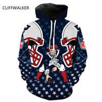 Wholesale England Patriots - wholesale Dropshiping New 3D Print England PATRIOTS ATLANTA BRONCOS Men Hoodies Sweatshirts Harajuku Pullover Hoodie Long Sleeve Clothing
